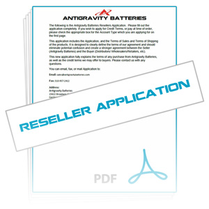 Download Reseller Application, Atigravity Batteries