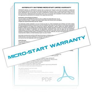 Micro-Start Warranty Info & Claim Form